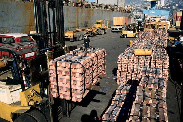 El 62% de las exportaciones chilenas de cobre son productos refinados