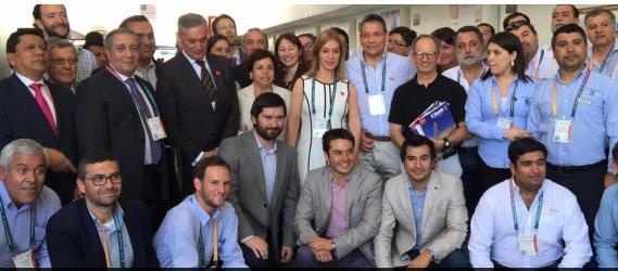 La ministra Aurora Williams estuvo acompañada de una delegación compuesta por representantes de al menos 30 empresas proveedoras nacionales, muchas de las cuales ya se encuentran presentes en la industria minera peruana. (Foto: Ministerio de Minería)