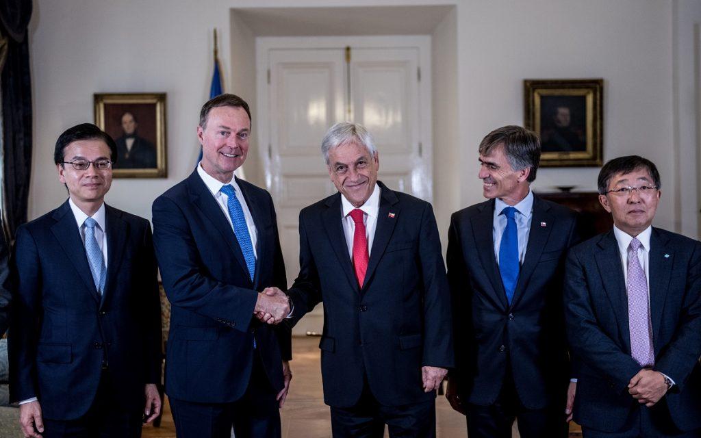 Presidente Piñera Teck y Sumitomo
