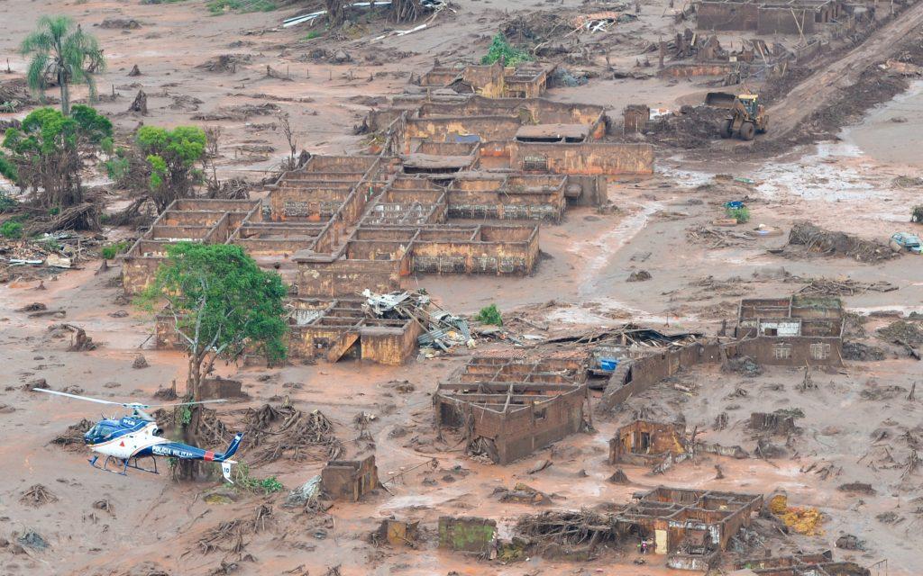 Região atingida por barragens da mineradora Samarco