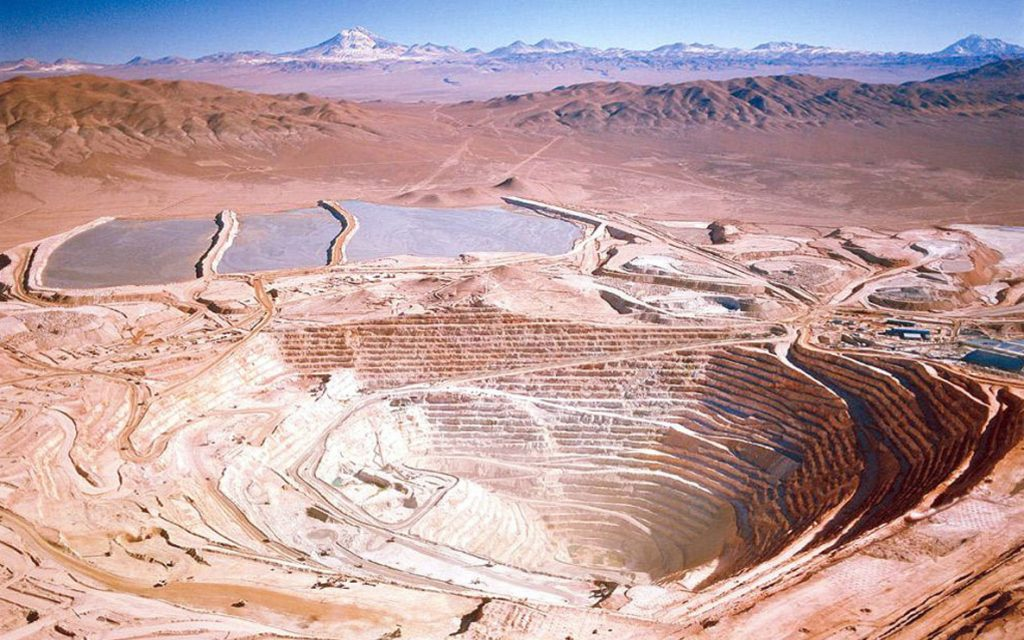 BHP Billiton Group's copper mine at Escondida, Chile - the world's la